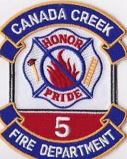 Canada Creek Fire Dept. No. 5 Firefighter Patch NEW!!
