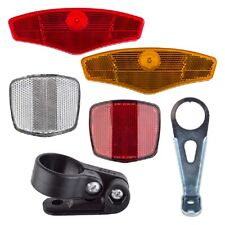 SUNLITE Reflector Set - Bike Bicycle Red Yellow White Safety Wheel Bracket NEW!