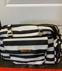 Jujube BFF Legacy Diaper Bag Backpack Black/White Stripes
