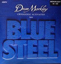 Dean Markley 2674 Blue Steel Bass Guitar Strings gauges 45-105