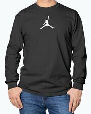 White Jumpman Air Jordan Flight Jumpman Gildan Long Sleeve T-Shirt