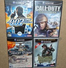 JOB LOT 4 x NINTENDO GAMECUBE GAME 007 Agent Call Duty Desert Storm Medal Honor