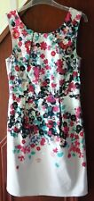 Oasis occasion dress, pale lilac with multi colour floral, size 10 BNW