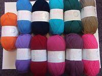 5 x 100g Hayfield Baby Double Knit Wool/Yarn for Knitting/Crochet