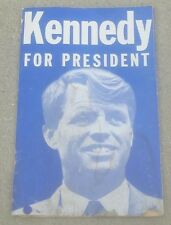 Original ROBERT KENNEDY FOR PRESIDENT CAMPAIGN POSTER 1968 Marion County INDIANA