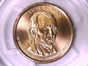 2009 D James K. Polk Dollar PCGS SP 68 Satin Finish Position A 15428538