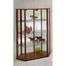 Mobile vetrina moderna espositore legno schienali specchio noce o nero
