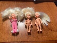 Lot 3 Mattel Barbie Little Sister Kelly Doll Lever Moves Hands/Potty Train / Toy