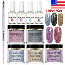 10Pcs/Set BORN PRETTY Dipping Powder Holographics Dip Liquid Brush Nail Art Kit