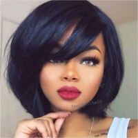 8A Brazilian Human Hair Short Bob Cut Full Lace Wigs Glueless Lace Front Wigs