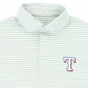 "Vineyard Vines Performance Texas Rangers Men XS 36"" Polo Shirt Grey Stripe"