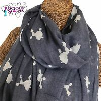 POODLE DOG SCARF LADIES SCARF WITH POSH POODLES SUPERB QUALITY SHAWL SARONG