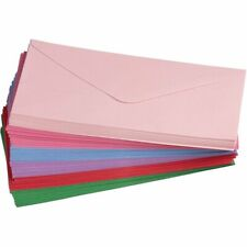96 #10 V-Flap Windowless Envelopes Gummed Seal 120 GSM, lush Pink, 4-1/8x9-1/2in