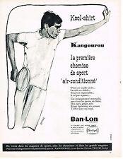 PUBLICITE ADVERTISING 114  1963  BAN-LON KANGOUROU  sous vetements  chemise de s