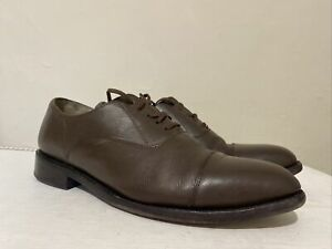 Men's Samuel Windsor Brown Leather Oxford Lace Up Shoes Size UK 9