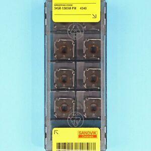 10 SANDVIK 345R-1305M-PM - Grade 4340 CNC Milling Coated Carbide Inserts