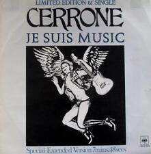 "CERRONE 'Je Suis Music' (CBS 12-6918) Vinyl 12"" Single. UK 1978 Disco – EX"