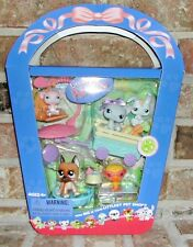 Littlest Pet Shop SPRING BASKET 243 244 245 246 247 VHTF Great Dane, Cat 2006