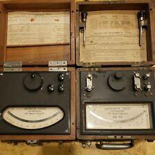 Rare Antique Mey Darsonval 19381946 Voltmeter And Amp Meter