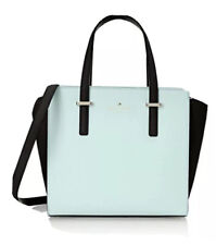 Kate Spade Cedar Street Blue/Black Medium Satchel Cross Body Hand Bag Purse