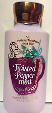 1 BATH & BODY WORKS TWISTED PEPPERMINT LOTION CREAM SHEA BUTTER 8 OZ  holiday