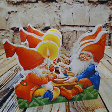 Cut Out Pullout Tabletop Garland Christmas Parade Tomte Eating Porridge Swedish