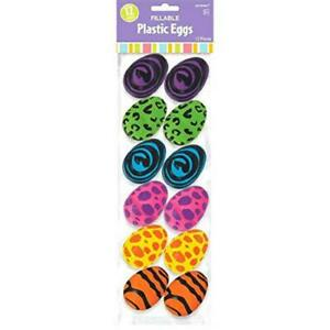 Animal Print Bright Colors Easter Holiday Party Small Fillable Plastic Eggs