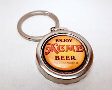 Acme Beer Beer Can Bottle Cap Opener Key Chain / Key Ring Handmade