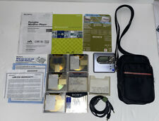 Hi - MD Player Net MD Recorder Sony MZ- NH 600D Walkman 5 Tapes And 1 New Tape