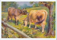 Farming Landscape Print Farm Animal Dairy Cattle Jersey Cow Bovinae Livestock