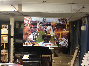 BIG 44x30 SEAN TAYLOR Vinyl Banner POSTER Washington Redskins football  man cave