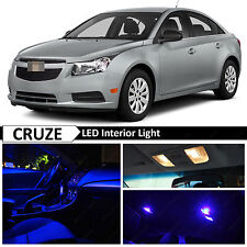 2011-2017 Chevy Cruze Blue Interior + License Plate LED Light Package Kit