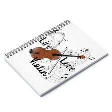 Live Love Violin Musical Notes Spiral Notebook - Ruled Line