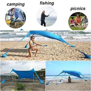 Sun Shade Shelter Beach Sunshade And Gazebo Tent - 210 X 210 - With Sand Anchors