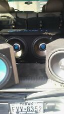 "12"" subwoofers 4 total 2 gold rockville 1 baja 1 hifonics"