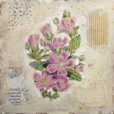 Starlie Sokol Hohne Untitled Floral Mixed Media Artwork, flowers, Make Offer!