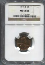 1973 D  NGC MS 64 RD PENNY