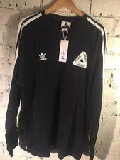 Palacio x Adidas Negro LSL de manga larga Talla XL Camiseta Bnwt