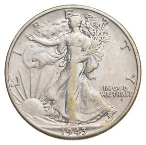 AU/Unc - 1943-D Walking Liberty Silver Half Dollar - Better *752