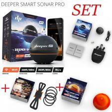 Deeper Pro Smart Sonar Set + Smartphone Halterung + Night Cover Wurfecholot