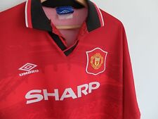 Manchester United 94/95 Sharp home shirt | Umbro | Red | XL | Man Utd