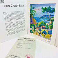 Jean Claude Picot Paysage Aux 3 Enfants 2005 Signed Seriolêithograph with COA