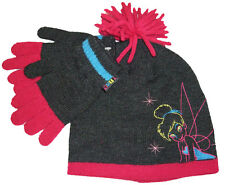 DISNEY TINKERBELL FAIRIES CHILDS KIDS HAT & GLOVES SET TINK - AGES 4-8 YEARS NEW