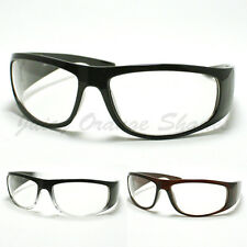 Mens Biker Eyeglasses Clear Lens Motorcycle Riding Glasses