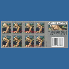 4815b Virgin and Child Gossaert Christmas 2013 Imperf Booklet of 20 No Die Cuts