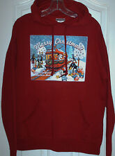 NWT Disney Parks Christmas Sweatshirt Hoodie sz. med. women's glitter accents