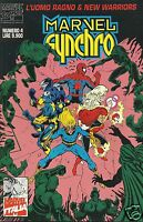 MARVEL SYNCHRO # 4 L'UOMO RAGNO & NEW WARRIORS (Marvel Italia, 1995)