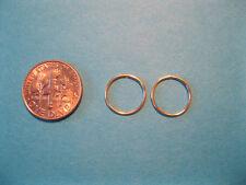 Beautiful Pair of  Gold  20g 12mm  Endless Hoop Nose Rings / Ear Rings