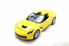 Maisto 2014 Chevrolet Chevy Corvette C7 Yellow New Without Box 1/24 Diecast Car