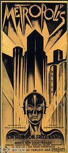 Poster Art painting Deco Metropolis Vintage Movie  old film